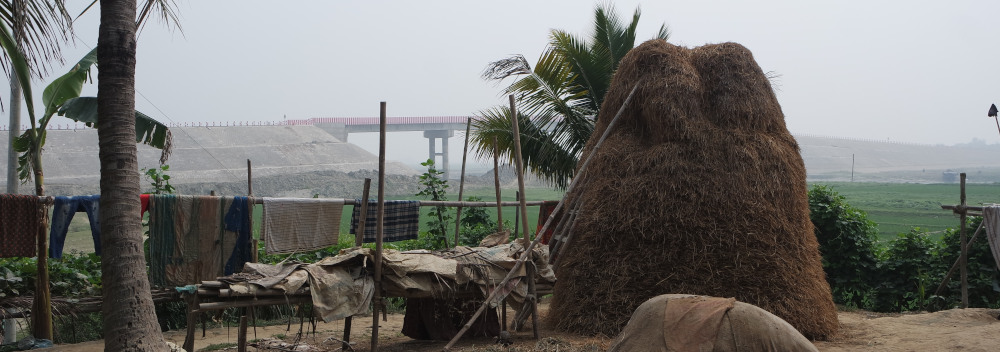 Munshipur, Dorf im Haor bei Kishargonj