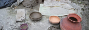 The pal, a pottery village in Trishal